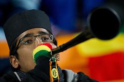 02.07.2010, Soccer City Stadium, Johannesburg, RSA, FIFA WM 2010, Viertelfinale, Uruguay (URU) vs Ghana (GHA) im Bild muslimischer Ghana Fan mit Vuvuzela, EXPA Pictures © 2010, PhotoCredit: EXPA/ Sportida/ Vid Ponikvar, ATTENTION! Slovenia OUT