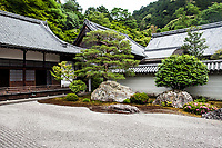 A zen garden in Kyoto, Japan.