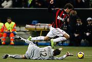 "Alexandre Pato (Milan) Julio Cesar (Inter).Milano 15/2/2009 Stadio ""Giuseppe Meazza"".Campionato Italiano Serie A.Inter Milan."