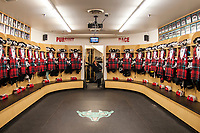 KELOWNA, CANADA - MARCH 10:  The Kelowna Rockets dressing room on March 10, 2018 at Prospera Place in Kelowna, British Columbia, Canada.  (Photo by Marissa Baecker/Shoot the Breeze)  *** Local Caption ***