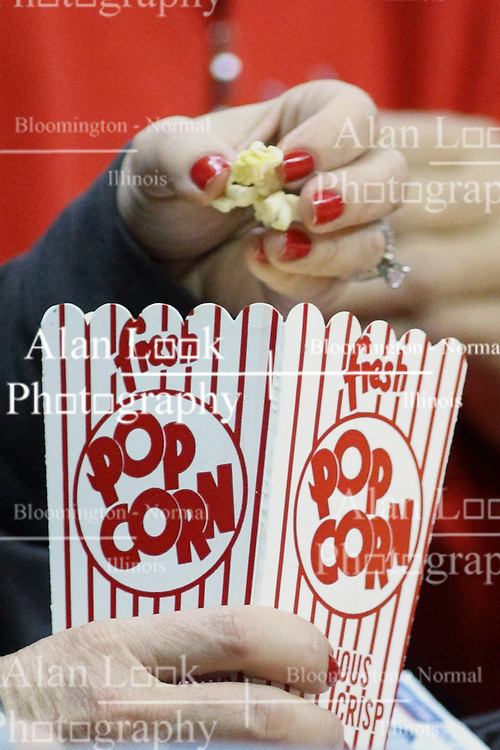 03 November 2013:  Popcorn during an mens exhibition basketball game between the Quincy Hawks and the Illinois State Redbirds in Redbird Arena, Normal IL