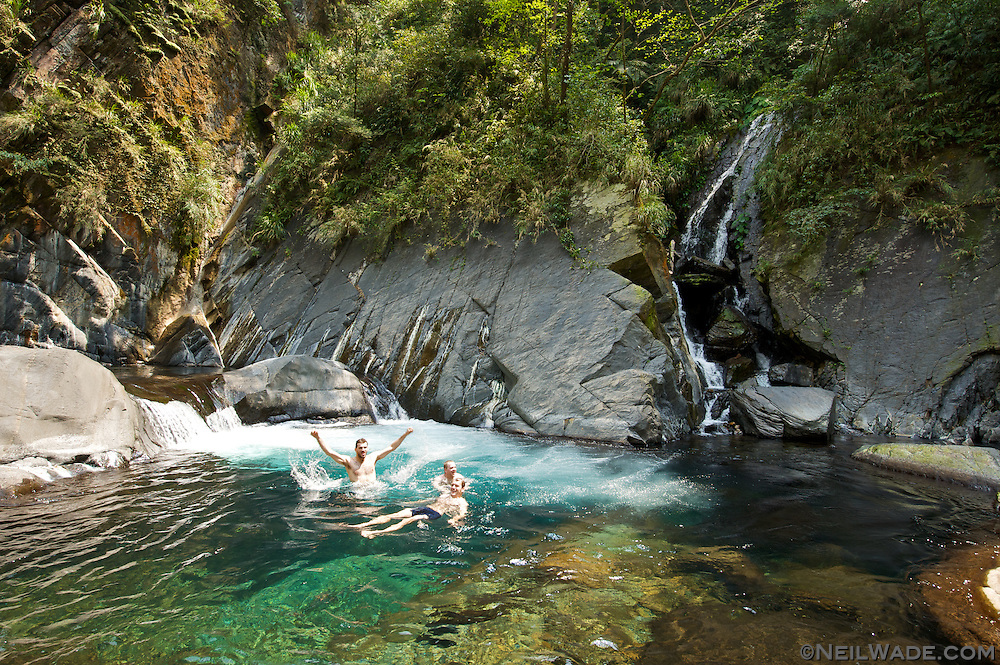 Crystal clear water is pretty common in the Taiwan mountain streams, but it's hard not to be awed by it every time.