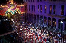 Mardi Gras parade on the Strand in Galveston Texas