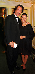 MR & MRS DAVID SEAMAN he is the England goalkeeper, at a ball in London on 13th October 1999.MXP 33