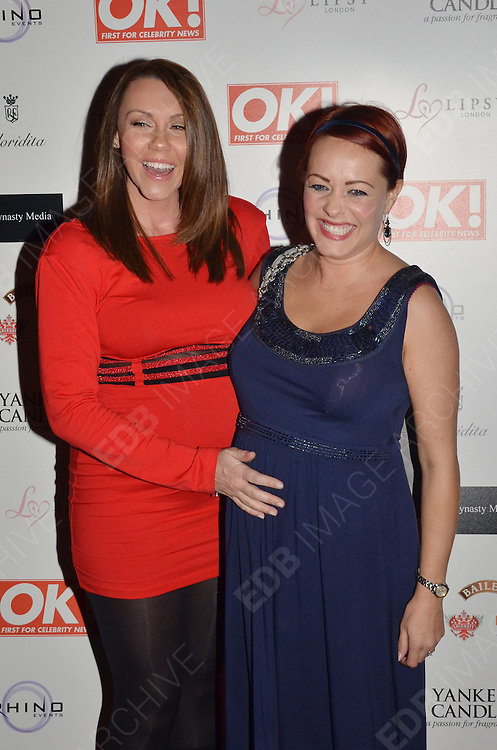 29.NOVEMBER.2011. LONDON<br /> <br /> MICHELLE HEATON AND SARAH CAWOOD ATTENDING THE OK MAGAZINE PARTY AT FLORIDITA IN SOHO, LONDON<br /> <br /> BYLINE: EDBIMAGEARCHIVE.COM<br /> <br /> *THIS IMAGE IS STRICTLY FOR UK NEWSPAPERS AND MAGAZINES ONLY*<br /> *FOR WORLD WIDE SALES AND WEB USE PLEASE CONTACT EDBIMAGEARCHIVE - 0208 954 5968*