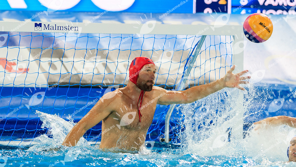 Viktor Nagy of Hungary<br /> Hungary (white cap) -  Russia (blue cap)<br /> Quarterfinal  Round Water Polo Women<br /> Day12  25/07/2017 <br /> XVII FINA World Championships Aquatics<br /> Alfred Hajos Complex Margaret Island  <br /> Budapest Hungary <br /> Photo @Deepbluemedia/Insidefoto Photo @Marcelterbals/Deepbluemedia/Insidefoto