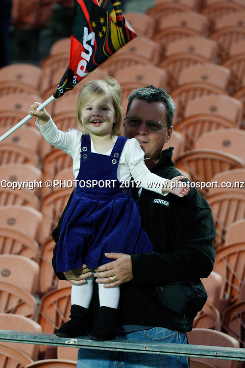 A young fan during their game at Waikato Stadium  2012 Super Rugby season, Chiefs v Waratahs at Waikato Stadium, Hamilton, New Zealand, Saturday 31 March 2012. Photo: Dion Mellow/photosport.co.nz