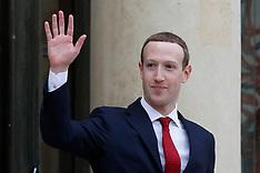 Mark Zuckerberg Leaves The Elysee Palace - 10 May 2019