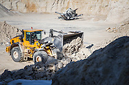 Volvo Construction Equipment wheel loaders in operation at Sylvestre Group's Limestone guarry in Maubec, France. Photo: Erik Luntang
