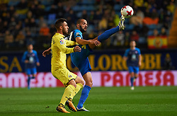 November 30, 2017 - Vila-Real, Castellon, Spain - Victor Ruiz of Villarreal CF and Yuri of SD Ponferradina during the Copa del Rey, Round of 32, Second Leg match between Villarreal CF and SD Ponferradina at Estadio de la Ceramica on november 30, 2017 in Vila-real, Spain. (Credit Image: © Maria Jose Segovia/NurPhoto via ZUMA Press)