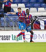 Inverness&rsquo; Liam Polworth is congratulated by Lonsana Doumbouya after scoring - Inverness Caledonian Thistle v Dundee in the Ladbrokes Scottish Premiership at Caledonian Stadium, Inverness. Photo: David Young<br /> <br />  - &copy; David Young - www.davidyoungphoto.co.uk - email: davidyoungphoto@gmail.com
