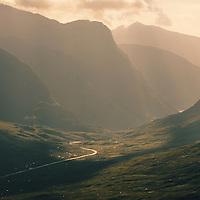 The pass of Glen Coe, Highlands, Scotland