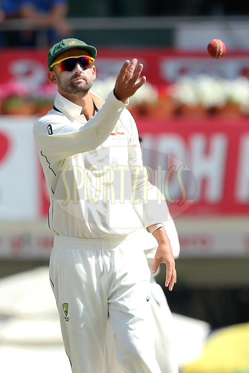 Nathan Lyon Australia during day three of the third test match between India and Australia held at the JSCA International Stadium Complex in Ranchi on the 18th March 2017. Photo by: Prashant Bhoot / BCCI/ SPORTZPICS