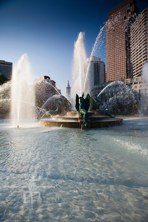 Swann Memorial Fountain at Logan Circle Park, Philadelphia, PA, USA