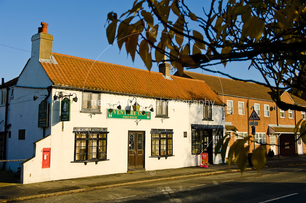Garton village Pub, Venture Inn and to the right the village shop
