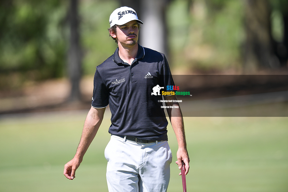 PERTH, AUSTRALIA - FEBRUARY 14: Pedro Figueiredo (POR) on the 8th green during the 1st round of the ISPS Handa World Super 6, Lake Karrinyup Country Club, Perth, Western Australia, on February 14, 2019. <br /> .<br /> .<br /> .<br /> (Photo by: Naratip Golf Srisupab/SEALs Sports Images)<br /> .<br /> Any image use must include a mandatory credit line adjacent to the content which should read: Naratip Golf Srisupab/SEALs Sports Images