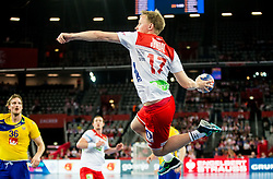 Magnus Jondal of Norway during handball match between National teams of Sweden and Norway on Day 7 in Main Round of Men's EHF EURO 2018, on January 24, 2018 in Arena Zagreb, Zagreb, Croatia.  Photo by Vid Ponikvar / Sportida