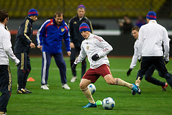 Andrej Arsavin at practice of Russian team a day before FIFA World Cup 2010 Qualifying match between Russia and Slovenia, on November 13, 2009, in Stadium Luzhniki, Moscow, Russia.  (Photo by Vid Ponikvar / Sportida)