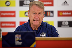 CARDIFF, WALES - Thursday, November 15, 2018: Denmark's head coach Aage Hareide during a press conference at the Cardiff City Stadium ahead of the UEFA Nations League Group Stage League B Group 4 match between Wales and Denmark. (Pic by David Rawcliffe/Propaganda)