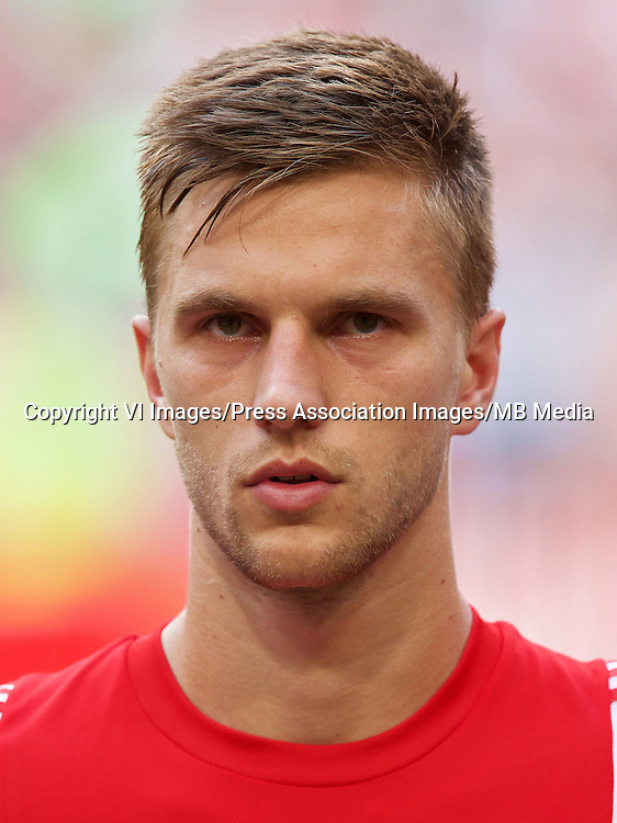 Joel Veltman of Ajax during the Europa League play-offs match between Ajax and FK Jablonec on August 20, 2015 at the Amsterdam Arena Stadium in Amsterdam, The Netherlands. ... Soccer - UEFA Europa League - Play-offs - Ajax v FK Jablonec - Amsterdam Arena ... 20-08-2015 ... Amsterdam ... Netherlands ... Photo credit should read: VI Images/VI Images. Unique Reference No. 23875407 ...