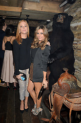 Left to right, SARAH-JANE MEE and ZOE HARDMAN at a party to celebrate the opening of Beaver Lodge, a new bar & club from the Inception Group at 266 Fulham Road, London SW10 on 4th December 2014.