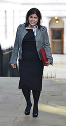 "© under license to London News Pictures. 5th August 2014 Foreign Office minister Baroness Warsi has resigned from the government, saying she can ""no longer support"" its policy on Gaza. FILE PICTURE DATED 11/09/2012. Westminster, UK  Baroness Warsi. MP's arrive for Cabinet at number 10 Downing Street today 11/09/12. Photo credit : Stephen Simpson/LNP"