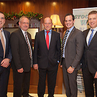 Gerry O'Connor, Co Manager, Jimmy Browne, Selector, Ger Loughnane, past Senior Hurling Manager, Paul Kinnerk, Coach and Donal Moloney, Co-Manager at the Clare U21 Hurling Final Winners Medal presentation in the West County Hotel on Saturday 06 Dec