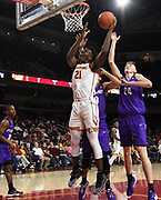 Nov 8, 2019; Los Angeles, CA, USA; Southern California Trojans forward Onyeka Okongwu (21) shoots the ball against the Portland Pilots  at Galen Center USC defeated Portland State 76-65.