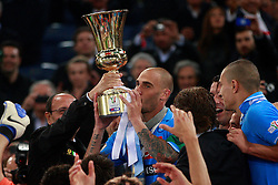 20.05.2012, Stadio Olympico, Rom, ITA, TIM Cup, Juventus Turin vs SSC Neapel, Finale, im Bild Paolo Cannavaro Napoli con la coppa Tim // during the final football match of Italian TIM Cup between Juventus Turin and SSC Neapel at Stadio Olympico, Rome, Italy on 2012/05/20. EXPA Pictures © 2012, PhotoCredit: EXPA/ Insidefoto/ Paolo Nucci..***** ATTENTION - for AUT, SLO, CRO, SRB, SUI and SWE only *****
