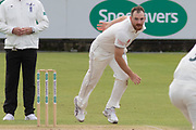 Ben Raine bowling during the Specsavers County Champ Div 2 match between Durham County Cricket Club and Leicestershire County Cricket Club at the Emirates Durham ICG Ground, Chester-le-Street, United Kingdom on 20 August 2019.