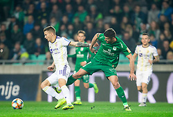 Luka Zahović of Maribor vs Rok Kronaveter of Olimpija during Football match between NK Olimpija and NK Maribor in 23rd Round of Prva liga Telekom Slovenije 2018/19 on March 16, 2019, in SRC Stozice, Ljubljana, Slovenia. Photo by Vid Ponikvar / Sportida