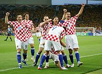 Jubel Kroatien Dario Srna nach 1:0<br /> Fussball WM 2006 Kroatien - Australien<br /> Kroatia - Australia<br /> Norway only