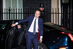 © Licensed to London News Pictures. 08/01/2018. London, UK. Matt Hancock MP arrives on Downing Street as Prime Minister Theresa May reshuffles the Cabinet. Photo credit: Rob Pinney/LNP