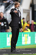 Derby County manager Phillip Cocu during the EFL Sky Bet Championship match between Derby County and Birmingham City at the Pride Park, Derby, England on 28 September 2019.