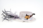 Steampunk accessories woman's hat On white Background
