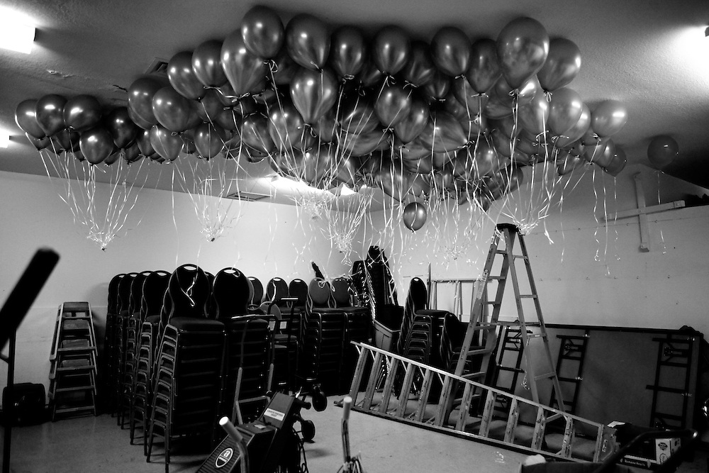 During the Compassionate Friends' 23rd Annual Candle Lighting, balloons, representing children who have died, wait in a storage room before more than 200 parents, grandparents and siblings, wrote messages on them and released them.