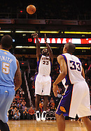 Oct. 22 2010; Phoenix, AZ, USA; Phoenix Suns guard Jason Richardson (23) puts up a basket during the first half against the Denver Nuggets during a preseason game at the US Airways Center. Mandatory Credit: Jennifer Stewart-US PRESSWIRE.