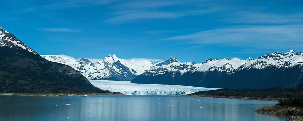 View of Brazo Rico and the Perito Moreno Glacier, Los Glaciares National Park, near El Calafate, Santa Cruz Province, Argentina.