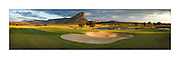 The world's toughest golf hole where players have to tee off from a MOUNTAIN onto the green 400 yards below (and have to be flown there by helicopter)<br /><br />Forget your local pitch and putt, this mammoth Par 3 is one of golf's greatest challenges - and that's just getting to the tee!<br />The Extreme 19th is the world's longest par 3, measuring 391 yards, and challengers can only access the tee by helicopter.<br />Sat atop South Africa's Hanglip Mountain, at 400 metres tall it is also the globe's highest hole, meaning it takes almost 30 seconds for any tee shot to reach the Africa-shaped green below.<br />Part of the Legend Golf Resort, situated in South Africa's Waterberg mountain range, the course has been designed by 18 of the globes top players, including Justin Rose and Retief Goosen.<br />Irishman Padraig Harrington, the 2008 Open Champion, was the first person to make par on the hole but has since been joined by Morgan Freeman and many more.<br />As there are no cameras or GPS used to track the flight of the golf ball, a spotter is employed to try and locate where it lands.<br />©Exclusivepix