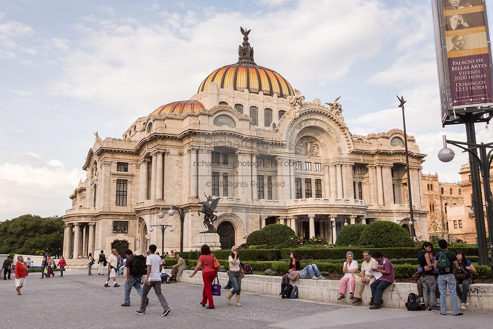 Palacio de Bellas Artes on Alameda Central park in Mexico City, Mexico.