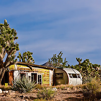 Abandoned Cedar Haven mine camp located in the Ivanpah Range of the Mojave National Preserve.