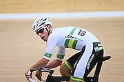 Australia's Joshua Harrison in the men omnium 30km points race at the UCI Tier 1 Festival of Speed, SIT Zero Fees Velodrome, Invercargill, New Zealand, Saturday, November 16, 2013. Credit:NINZ/Dianne Manson