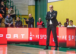 Jure Zdovc - head cocach of KK Petrol Olimpija Ljubljana during the basketball match of Nova KBM League between KK Petrol Olimpija Ljubljana and KK Krka Novo mesto, on February 27, 2019, in Novo mesto, Slovenia. Photo by Urban Meglic / Sportida