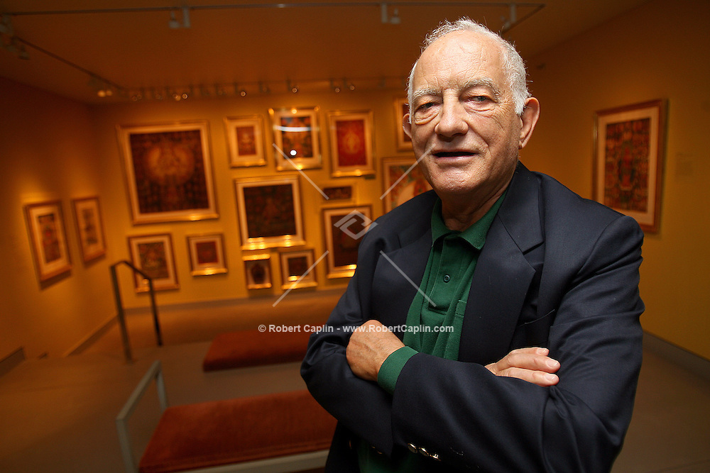 David Lewiston, a legendary ethnic field recorder, is being honored at the Ruben Museum for his lifetime of work Friday. Here he is pictured in the Ruben Museum. May 12, 2006. Robert Caplin For The New York Times