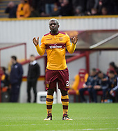 23rd December 2017, Fir Park, Motherwell, Dundee; Scottish Premier League football, Motherwell versus Dundee; Motherwell's Cedric Kipre prays before the kick off