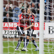 Dundee&rsquo;s Greg Stewart celebrates with Riccardo Calder after scoring - Dundee v Ross County - Ladbrokes Premiership at Dens Park<br /> <br />  <br />  - &copy; David Young - www.davidyoungphoto.co.uk - email: davidyoungphoto@gmail.com