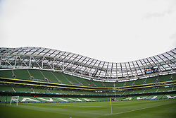 DUBLIN, REPUBLIC OF IRELAND - Wednesday, May 14, 2014: A general view of Lansdowne Road before a postseason friendly between Shamrock Rovers and Liverpool. (Pic by David Rawcliffe/Propaganda)