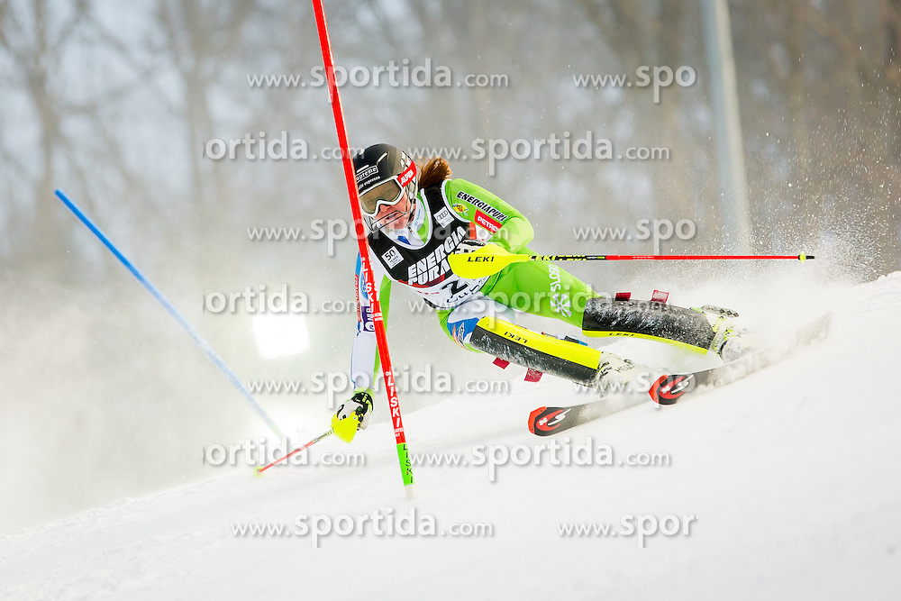 "Marusa Ferk (SLO) during FIS Alpine Ski World Cup 2016/17 Ladies Slalom race named ""Snow Queen Trophy 2017"", on January 3, 2017 in Course Crveni Spust at Sljeme hill, Zagreb, Croatia. Photo by Žiga Zupan / Sportida"