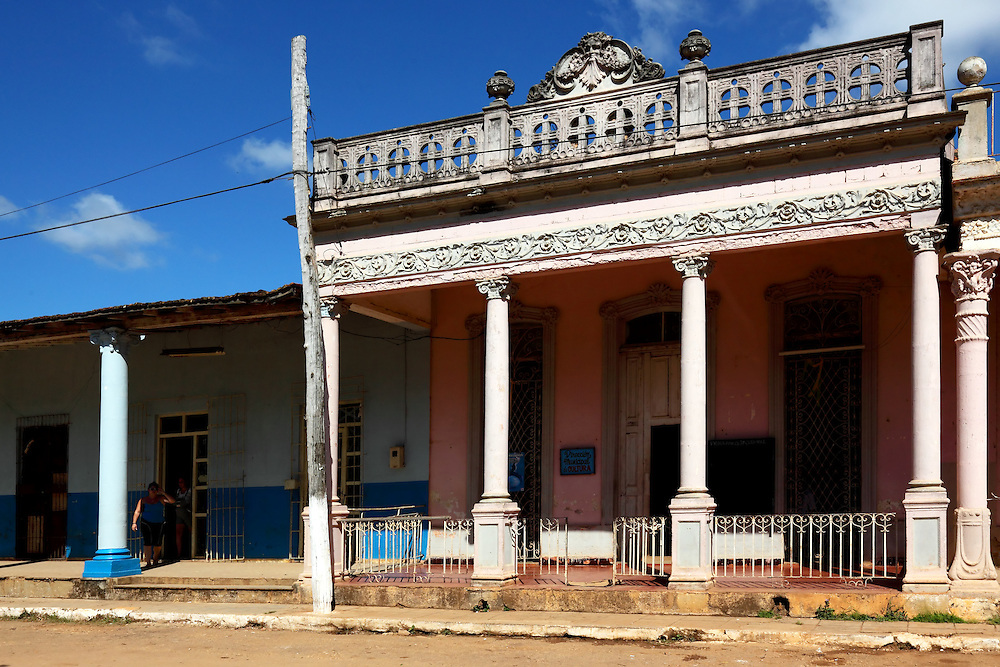 Old building in Quivican, Mayabeque, Cuba.