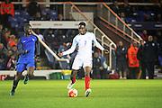 England U18 forward Jonathan Leko (7) during the U18 International match between England and France at London Road (ABAX Stadium), Peterborough, England on 14 November 2016. Photo by Nigel Cole.
